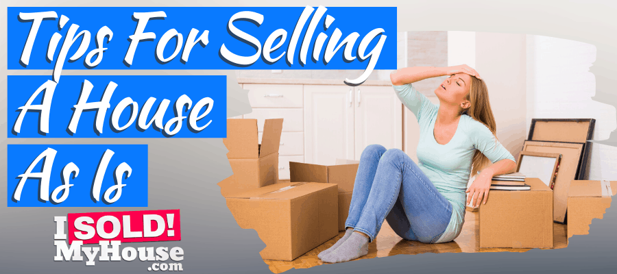 picture of a woman deciding to sell her house as is
