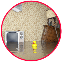 picture of a flooded house