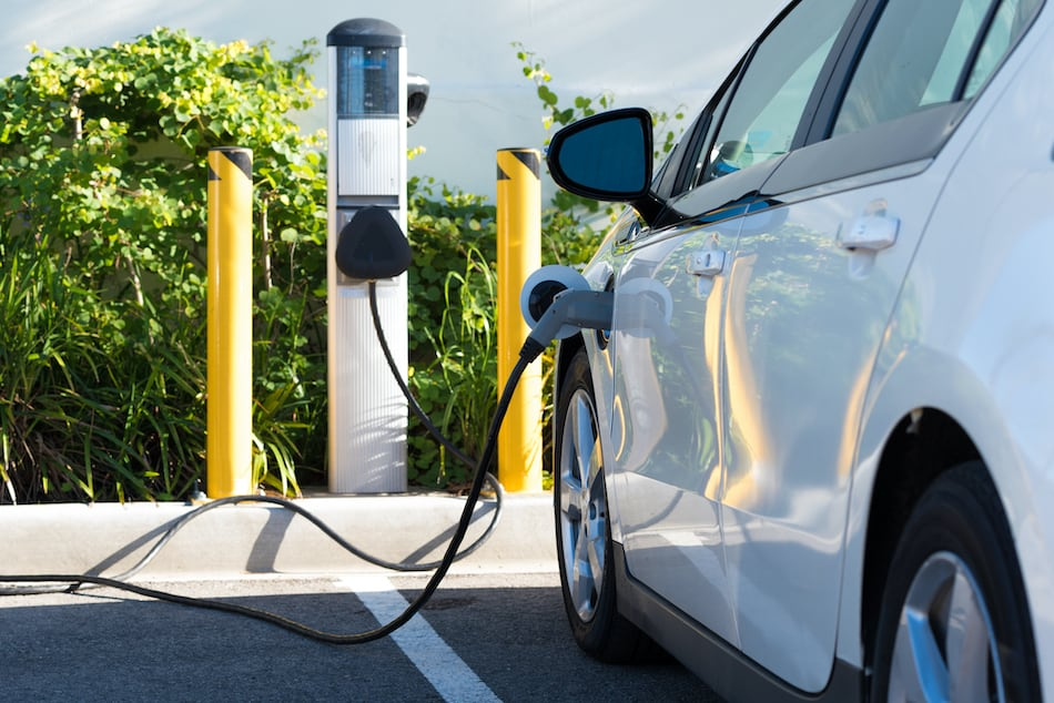 picture of an electric car charging
