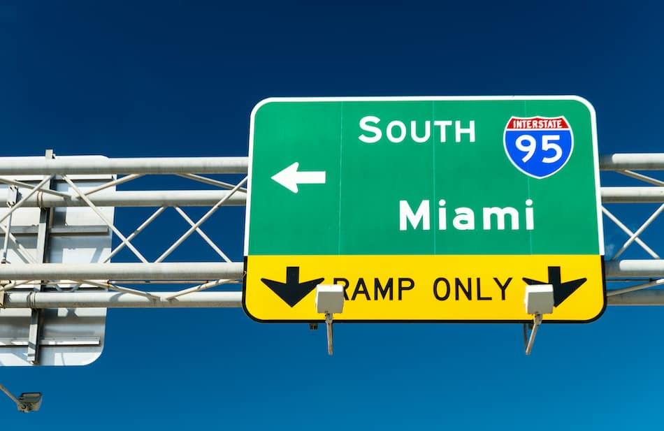 picture of I95 South towards Miami