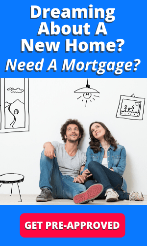 picture of couple dreaming of getting a mortgage for a new home