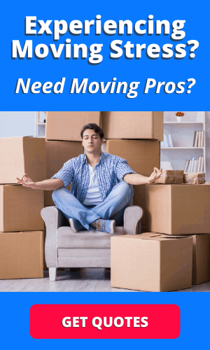 picture of a man stressed about moving