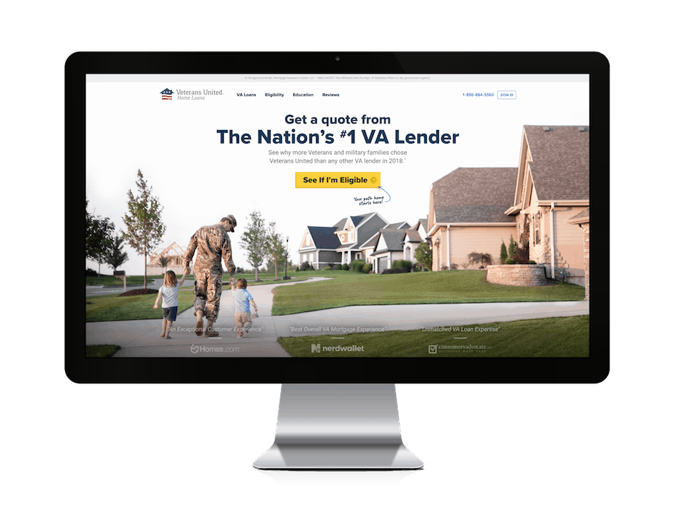 picture of veterans united home loans website