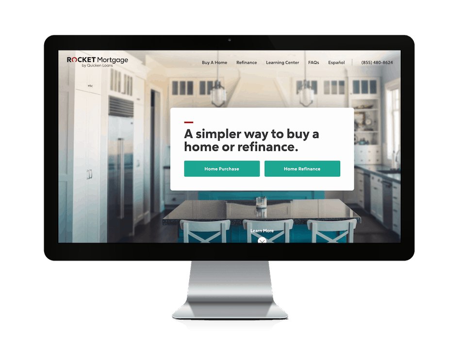 picture of rocket mortgage website