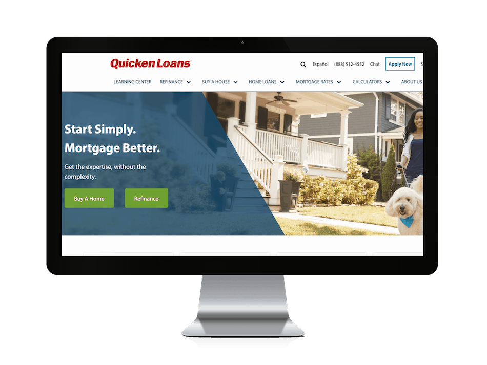 picture of quicken loans mortgage website