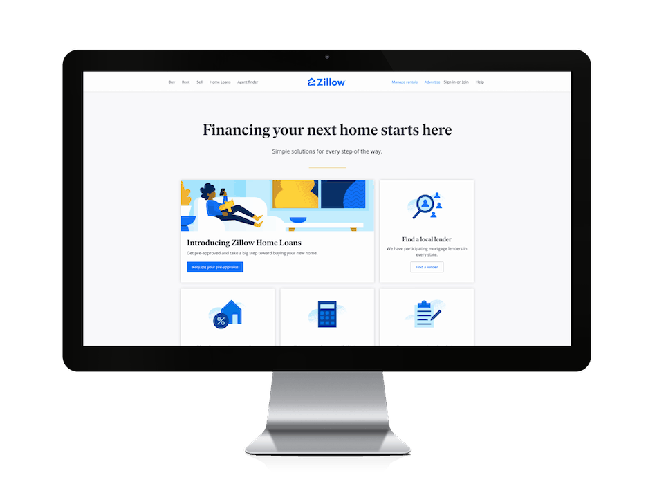 picture of zillow home loans website
