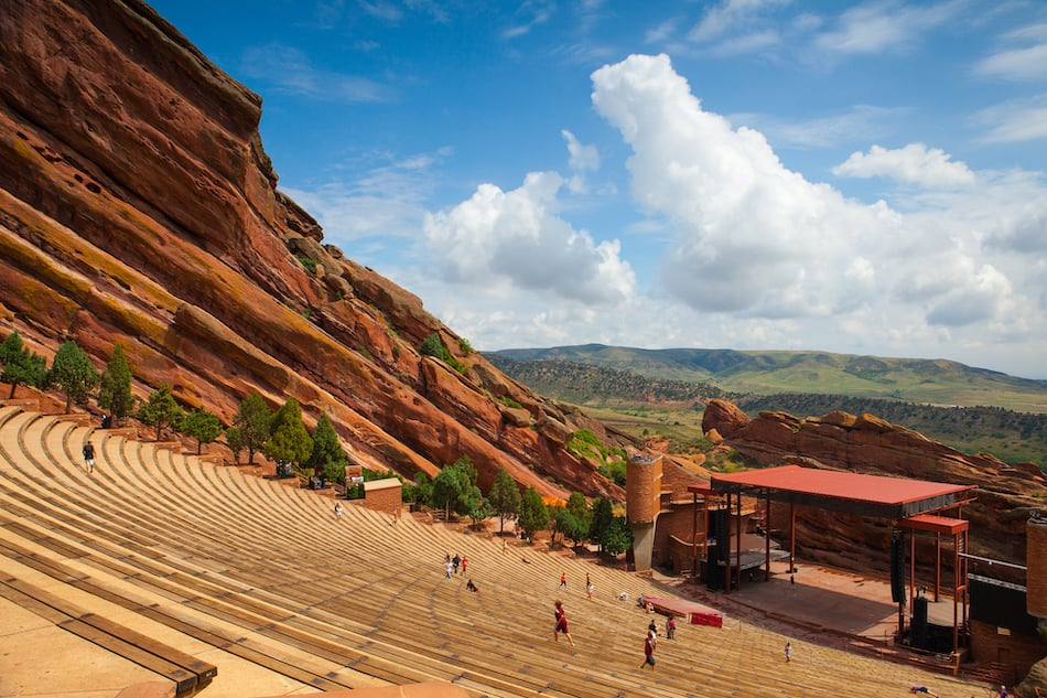 picture of Famous Red Rocks Amphitheater in Morrison CO