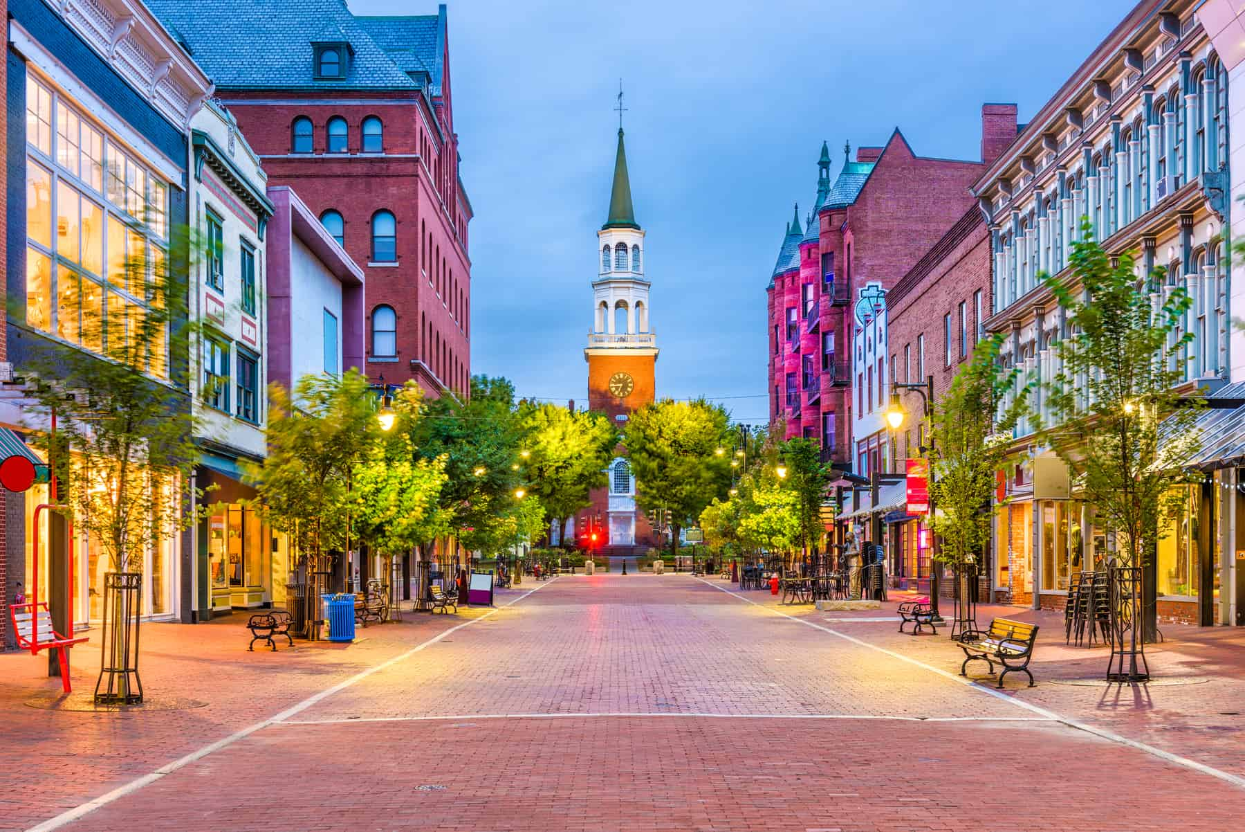 picture of Burlington, Vermont, USA at Church Street Marketplace.