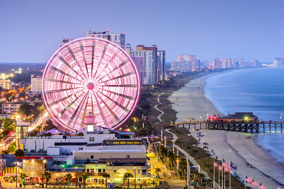 picture of Myrtle Beach, South Carolina, USA city skyline.