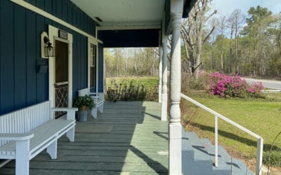 Side view of the front porch