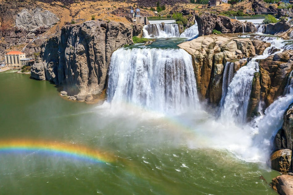picture of Shoshone Falls on snake river, in Twin Falls, Idaho.