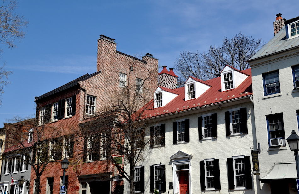 picture of Alexandria, Virginia:  Handsome 18-19th century Federal era houses on Cameron Street in Old Town