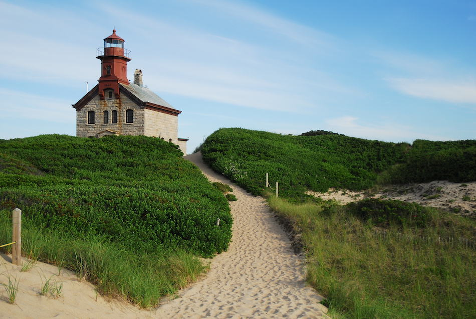 The Historic North Light on Block Island, Rhode Island