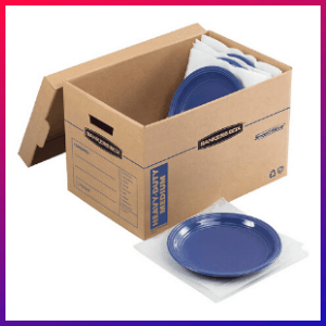picture of the best boxes for packing dishes