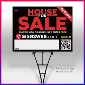 picture of Web Enabled For Sale Sign & Post + Website