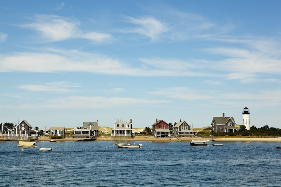 Houses by the sea, near hyannis port, massachusetts