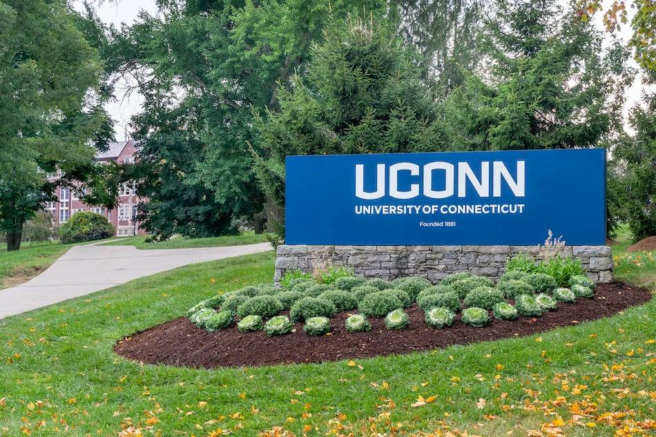 Entrance Sign to the University of Connecticut