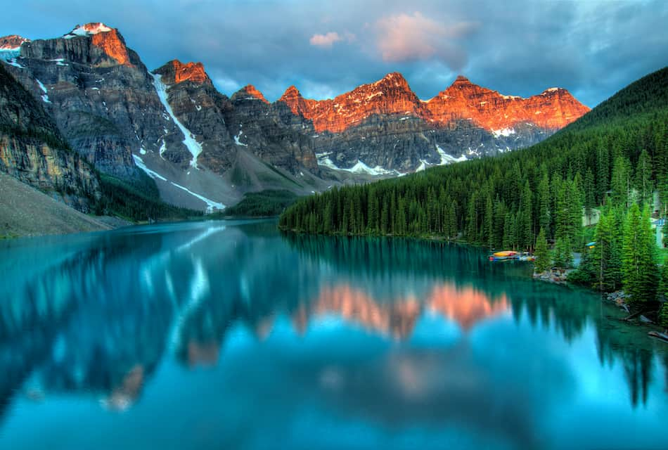 picture of Moraine Lake Alaska Sunrise Colorful Landscape