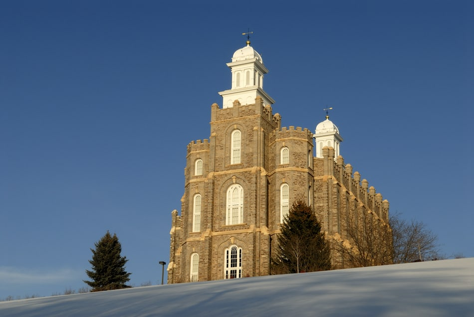 Temple of the Church of Jesus Christ of Latter-day Saints (Mormons) located in Logan Utah