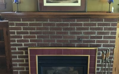 Living Room Fireplace with Gas Insert
