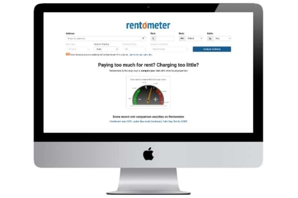picture of rentometer home value estimator website