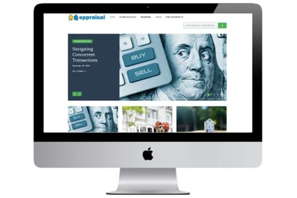 picture of eppraisal home value estimator website