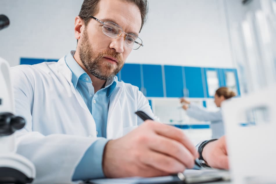 picture of a professional doing research