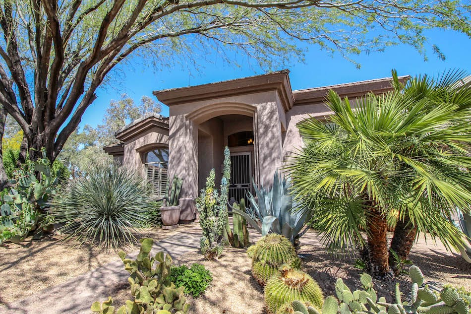 South west style home in Scottsdale Arizona